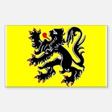 Flanders Flag Rectangle Decal