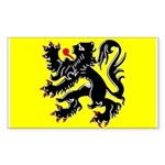 Flanders Flag Rectangle Sticker
