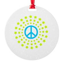 Peace Burst Color Ornament