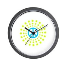 Peace Burst Color Wall Clock