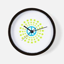 Peace Burst Color Wall Clock