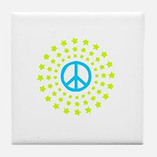 Peace Burst Color Tile Coaster