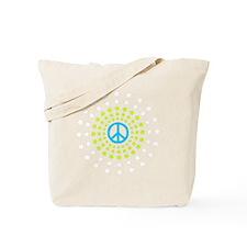 Peace Burst Color Tote Bag