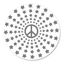 Peace Burst Round Car Magnet