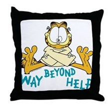 Beyond Help Garfield Throw Pillow