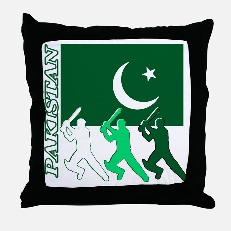 Pakistan Cricket Pillows Pakistan Cricket Throw Pillows