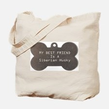 Friend Husky Tote Bag