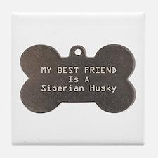 Friend Husky Tile Coaster