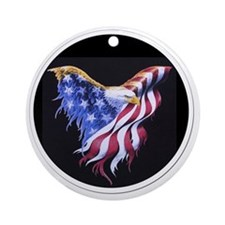 eagle_10x10_apparel Round Ornament