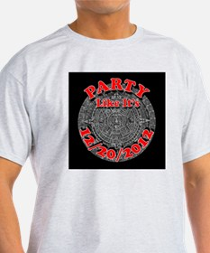 mayan calendar party 2012 (black) T-Shirt