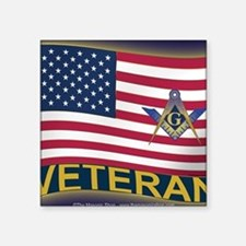 "VET LICENSE Square Sticker 3"" x 3"""