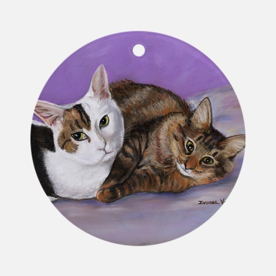 karencats11x11pillow Round Ornament