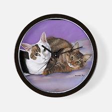 karencats11x11pillow Wall Clock