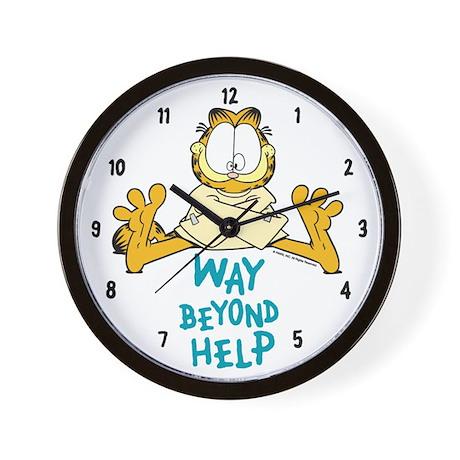 Beyond Help Garfield Wall Clock