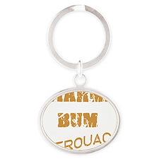 kerouac1 Oval Keychain