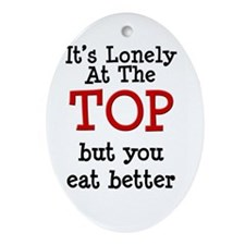 lonely at top.tif Ornament (Oval)