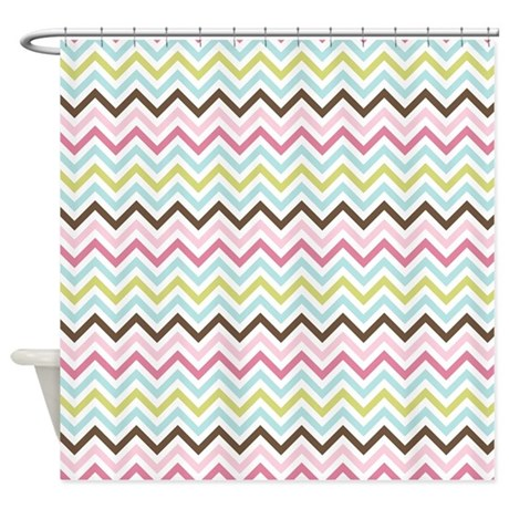 Multi Colored Chevron Shower Curtain By TheChicBoutique85