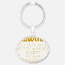 kerouacquote Oval Keychain