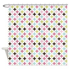 Multi-Colored Diamonds Shower Curtain
