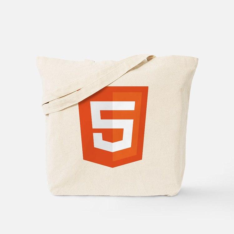HTML5-Orange Tote Bag