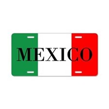 Mexico Flag Color Aluminum License Plate