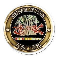 vietnam 2 Round Car Magnet