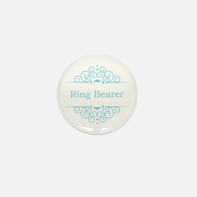 Ring bearer in blue Mini Button