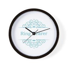 Ring bearer in blue Wall Clock