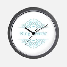 Ring bearer in blue Wall Clock