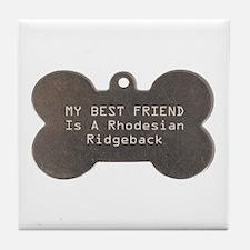 Friend Ridgeback Tile Coaster