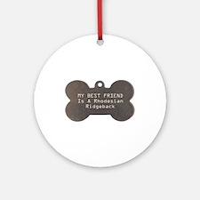 Friend Ridgeback Ornament (Round)