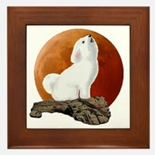 Howling at the moon 10 by 10 Framed Tile