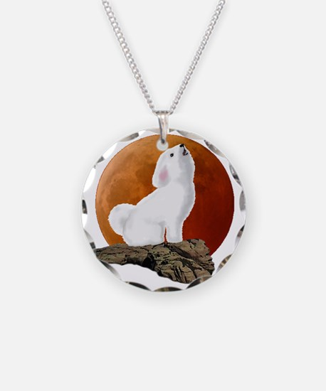 Howling at the moon 10 by 10 Necklace
