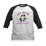 Mardi Gras Child Kids Baseball Jersey