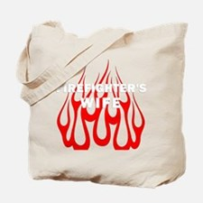 Firefighters Wife Flames Tote Bag