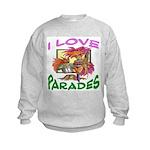 Mardi Gras Child Kids Sweatshirt