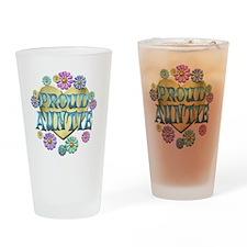 PROUDAUNTIE Drinking Glass