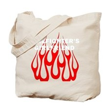 Firefighters Girlfriend Flames Tote Bag