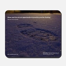 Predawn Runner Calendar - January Mousepad