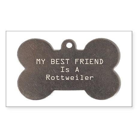 Friend Rottweiler Rectangle Sticker