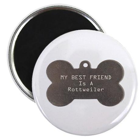 """Friend Rottweiler 2.25"""" Magnet (100 pack)"""