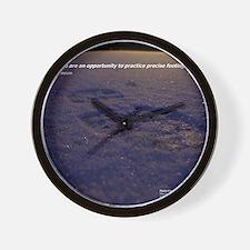 Predawn Runner Calendar - January Wall Clock