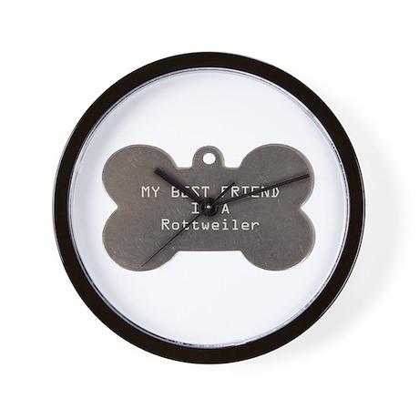 Friend Rottweiler Wall Clock