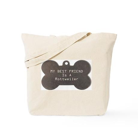 Friend Rottweiler Tote Bag
