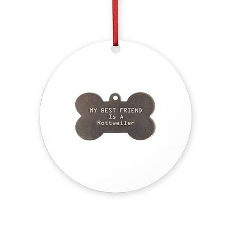 Friend Rottweiler Ornament (Round)