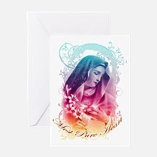 Most Pure Heart of Mary (vertical) Greeting Card