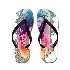 Most Pure Heart of Mary (black vertical Flip Flops