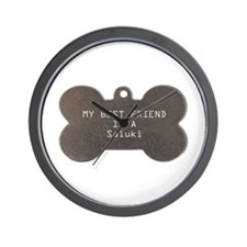 Friend Saluki Wall Clock