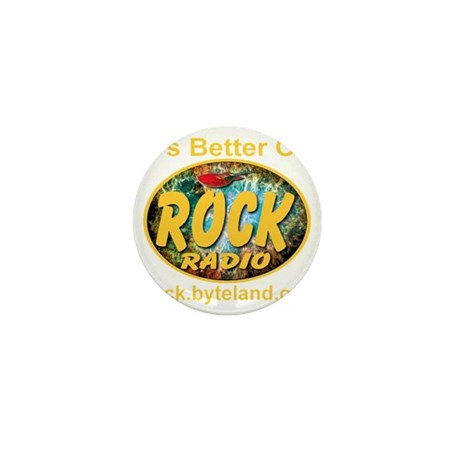its_better_on_rock_radio_transparent Mini Button