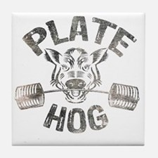 Plate Hog Tile Coaster